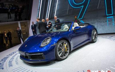 GENÈVE 2019 – PORSCHE 911 CARRERA S & 4S CABRIOLET