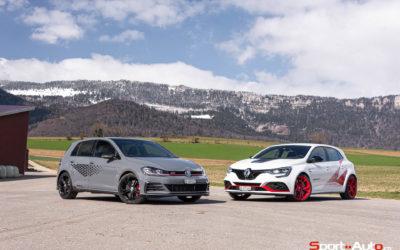 DUEL RENAULT MEGANE RS TROPHY-R vs VW GOLF 7 GTI TCR