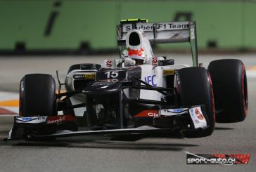 F1 – GP Singapour – Sauber : 1 point sur le tapis vert