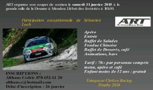 Un invité de marque au souper de soutien du Althaus Rally Team