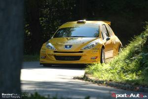 Grégoire Hotz et Pietro Ravasi (Peugeot 207 S2000) en action