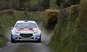 Peugeot en nombre, notamment avec les pilotes de la Peugeot Rally Academy