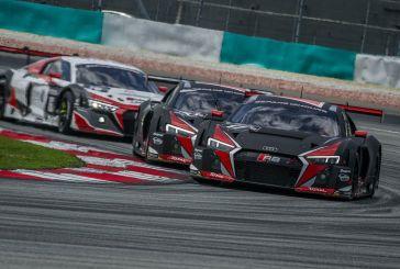 Dreifachsieg für neuen Audi R8 LMS in Sepang