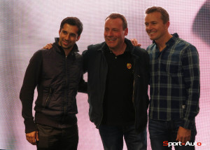 Neel Jani et Marcel Fässler avec un fan