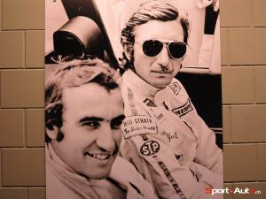 Autour de la piste de karting du Kartpalais, poster de Clay Regazzoni et Jo Siffert
