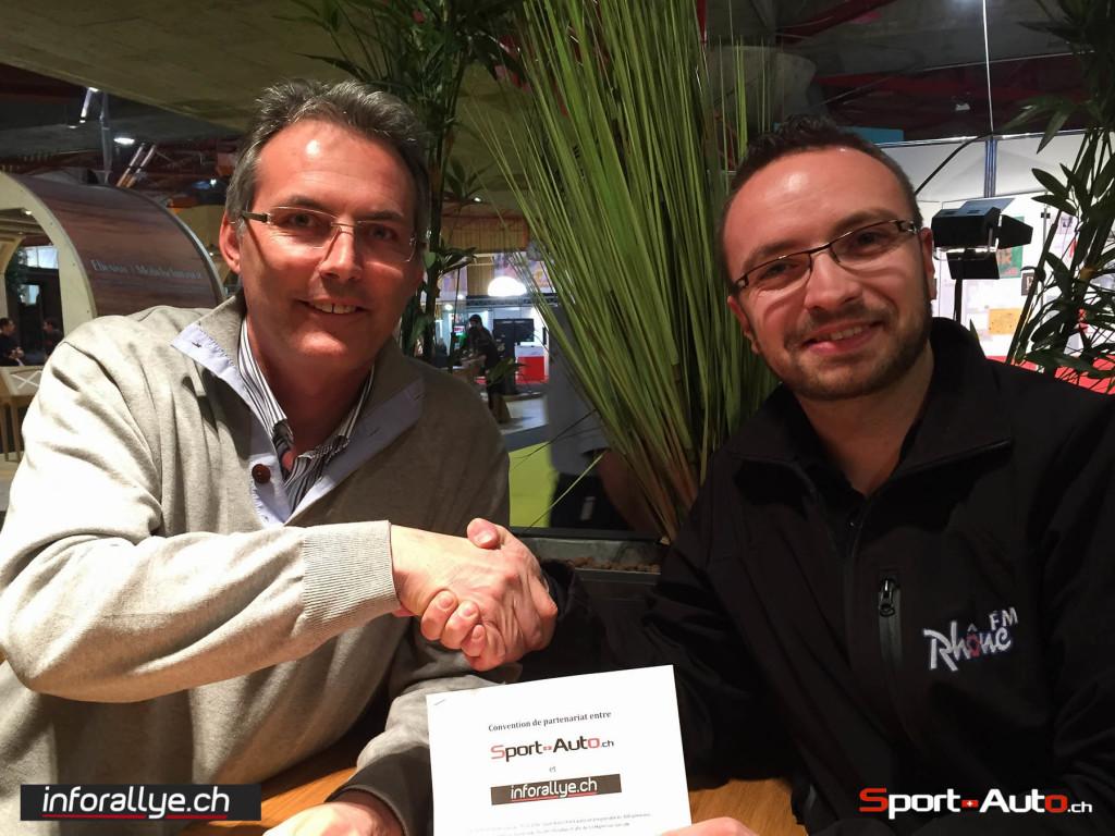 Sport-Auto.chetinforallye.channoncent leur partenariat