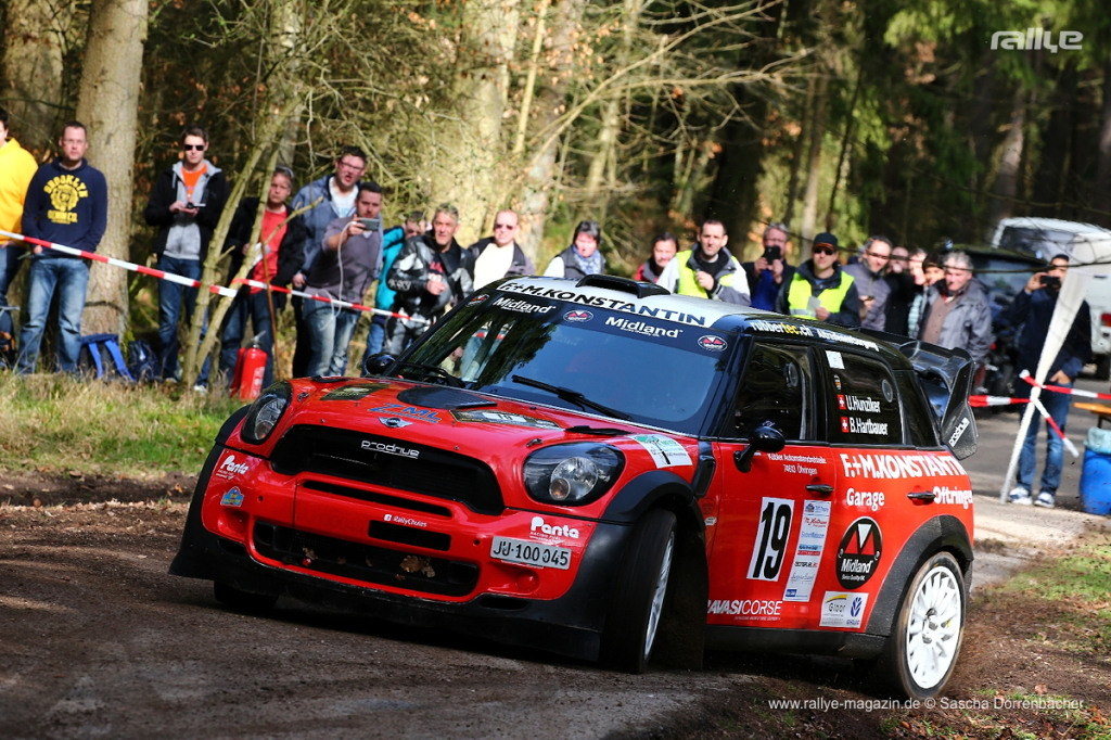 Urs Hunziker impose sa Mini WRC en Allemagne