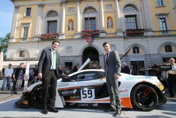 Alex Fontana's McLaren in Lugano city centre