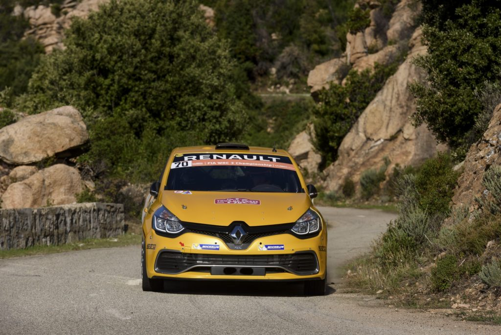 70 RENAULT SPORT RALLY TEAM, Burri Michael, Levratti Anderson, Renault, Clio, Action during the 2016 WRC World Rally Car Championship, Tour de Corse rally from september 30 to october 2 at Ajaccio, France - Photo DPPI