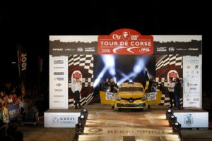 70 RENAULT SPORT RALLY TEAM, Burri Michael, Levratti Anderson, Renault, Clio, Ambiance during the 2016 WRC World Rally Car Championship, Tour de Corse rally from september 30 to october 2 at Ajaccio, France - Photo Bastien Baudin / DPPI