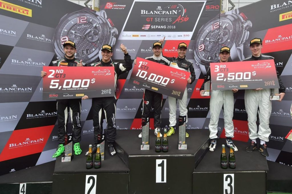 Patric Niederhauser et Raffaele Marciello brillent en Blancpain GT Series Asia