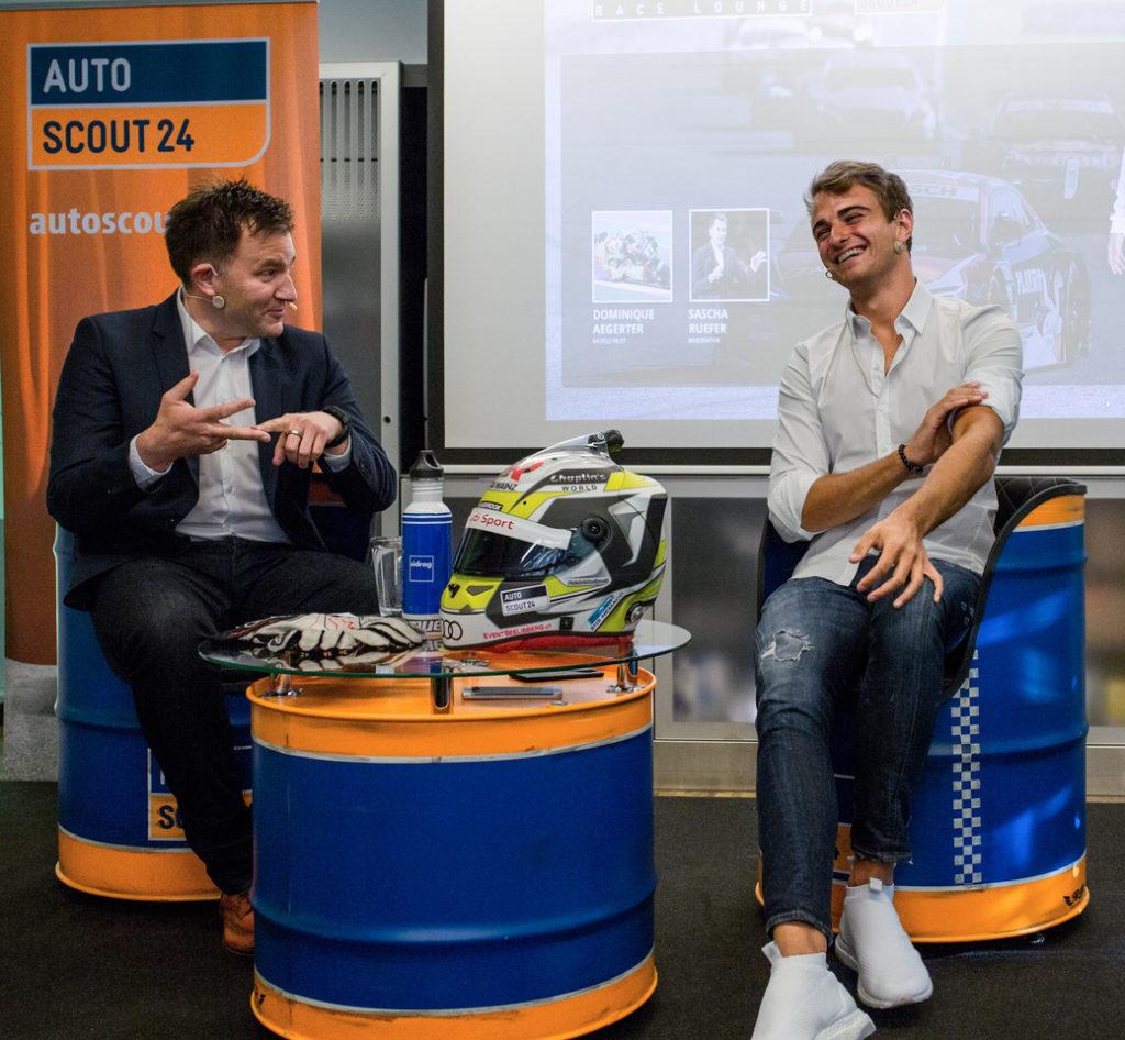 Rencontre avec Nico Müller, tout sourire avant de baisser la visière!