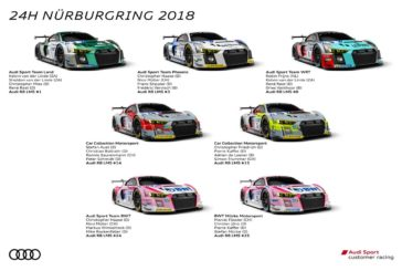 24 Stunden Nürburgring: größtes Festival des Jahres für Audi Sport customer racing