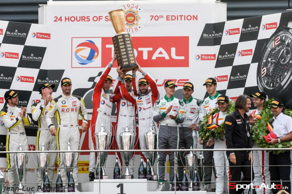24h de Spa - BMW s'impose pour la 70ème, Jeffrey Schmidt sur le podium
