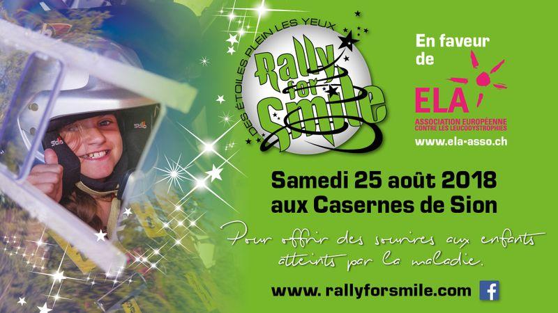4e édition de Rally for Smile : Tous aux Casernes de Sion ce samedi samedi 25 août pour la bonne cause !