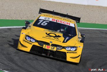 Timo Glock fährt für BMW im vorletzten DTM-Rennen des Jahres in Hockenheim als Dritter auf das Podium