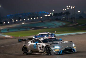 Debüt des neuen Aston Martin Vantage V8 GT3 mit R-Motorsport bei den Gulf 12 Hours in Abu Dhabi