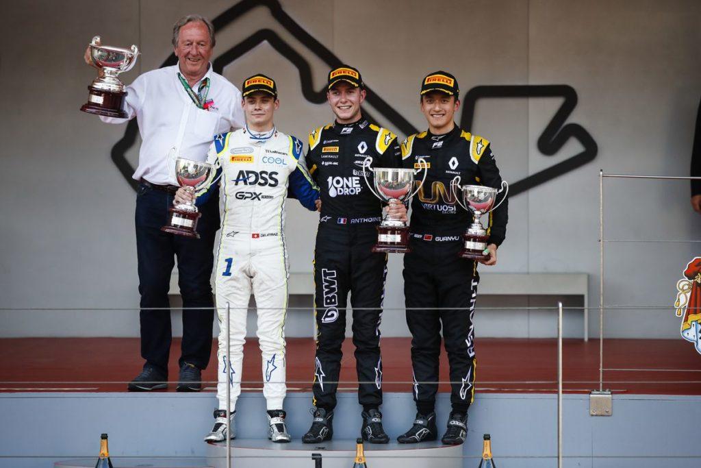 FIA F2 – GP de Monaco: Louis Delétraz à un souffle de la victoire. Boschung marque également des points