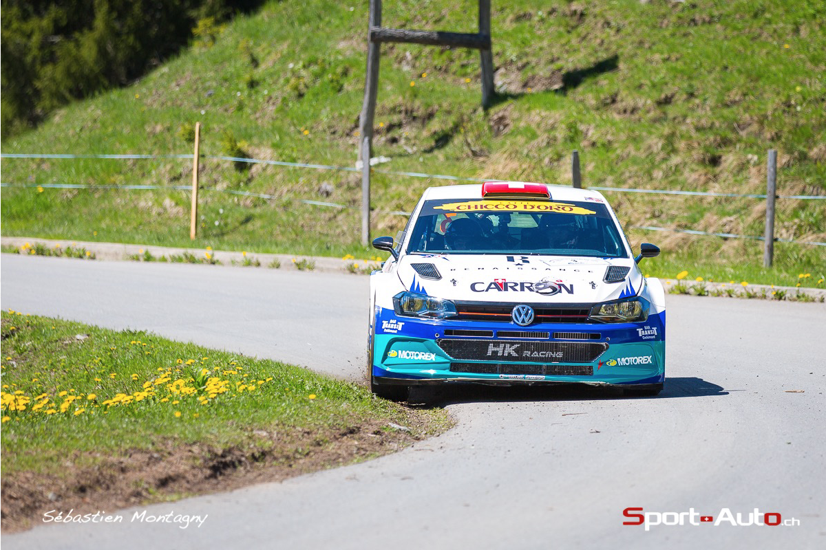 Rallye du Chablais -  fin de la première journée Carron et Valliccioni en tête
