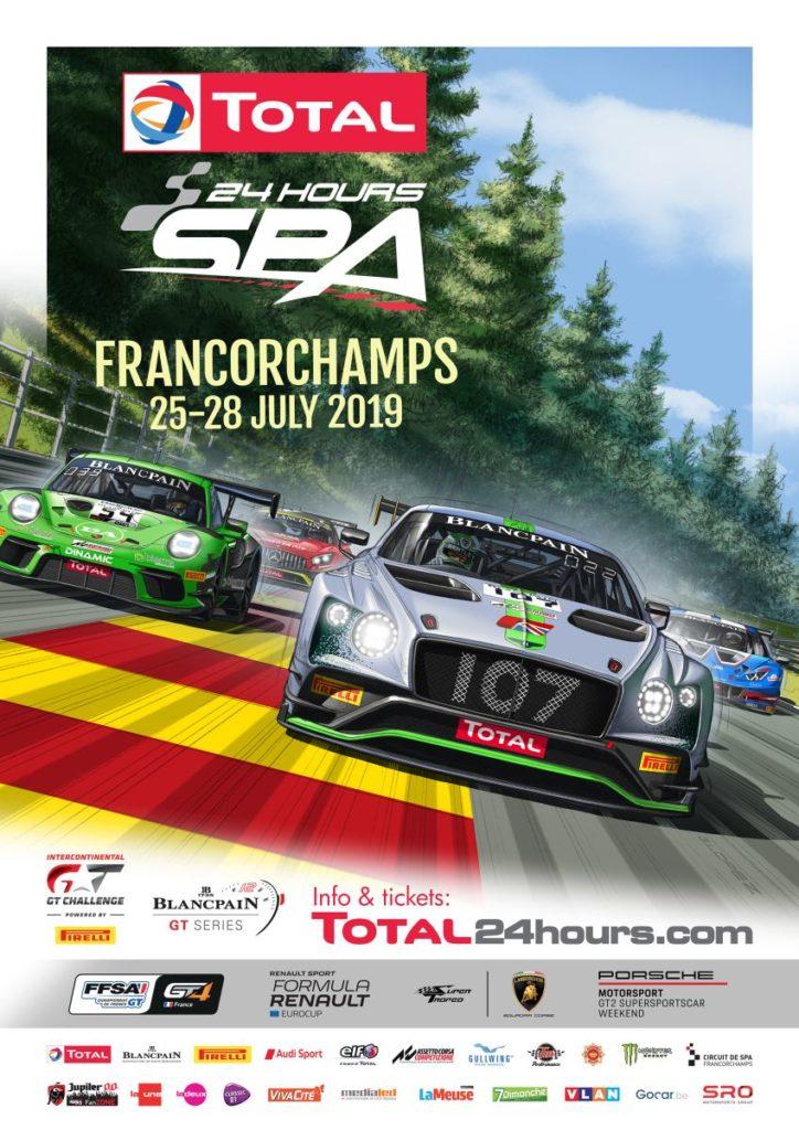 Coup d'envoi des Total 24 Hours of Spa 2019 avec une dynamique affiche officielle