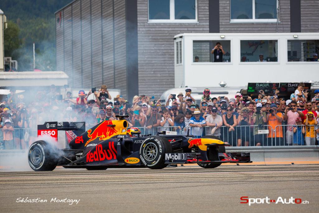 F1 – Red Bull Days à Granges: Sébastien Buemi et la Formule 1 font le show en Suisse