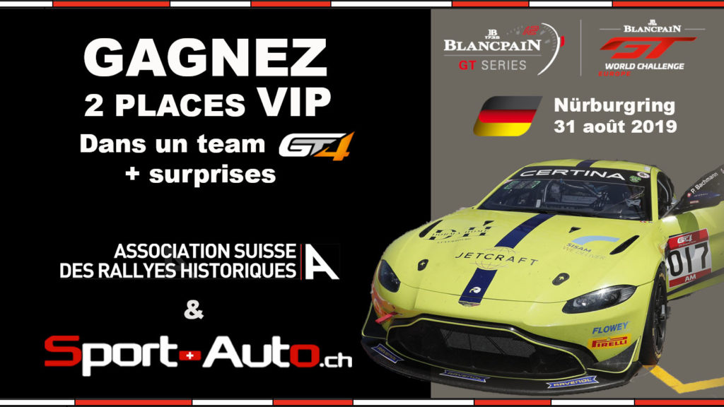 Concours Sport-Auto.ch / Ass. Suisse des Rallyes Historiques : Gagnez des places VIP !