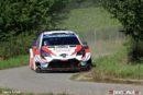 Toyota Yaris WRC first, second and third after mastering Panzerplatte