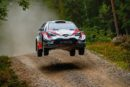 Latvala leads a thrilling Finnish fight for the Toyota Yaris WRC trio