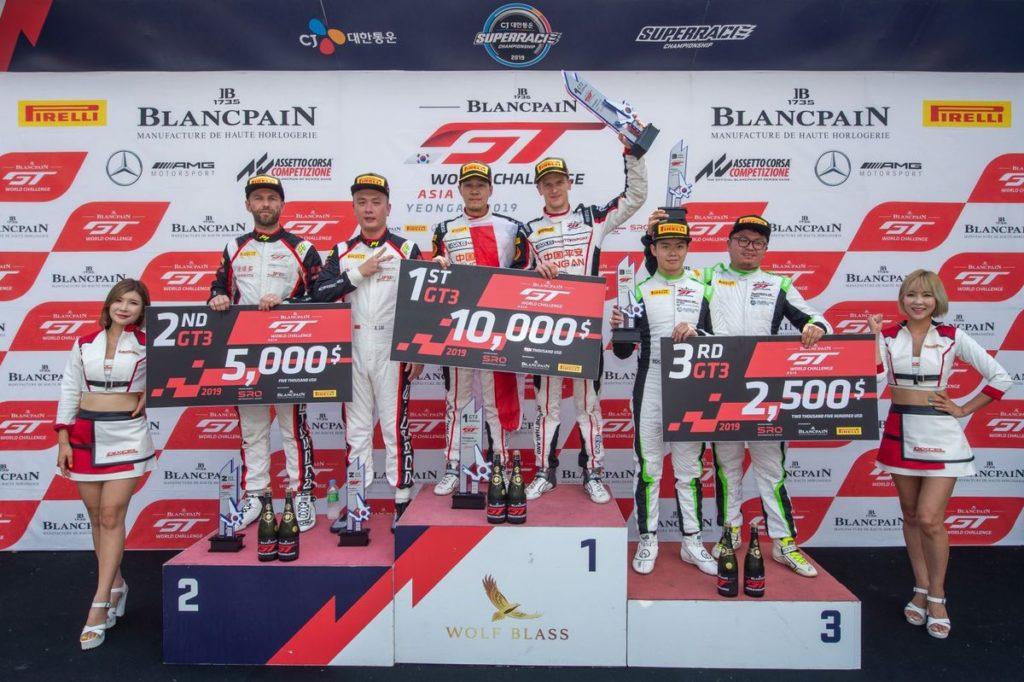Blancpain GT World Challenge Asia – Victoire pour Alexandre Imperatori à Yeongam, Rahel Frey au pied du podium