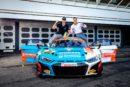 The new ADAC GT Masters champions: Kelvin van der Linde and Patric Niederhauser