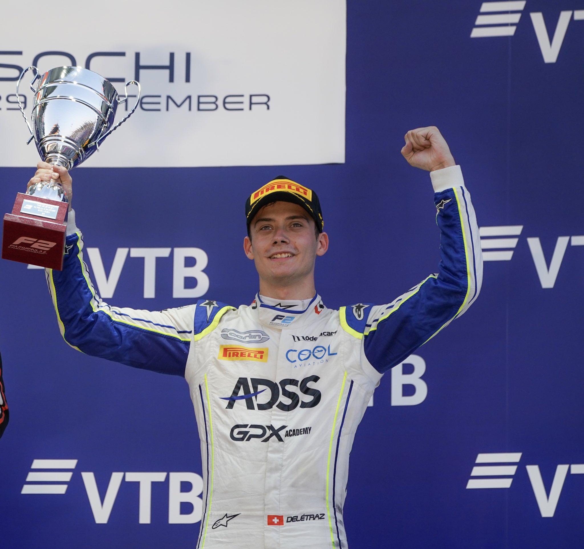 FIA F2 – GP de Russie: Magnifique podium pour Louis Delétraz. Nick de Vries titré, Ralph Boschung de retour.