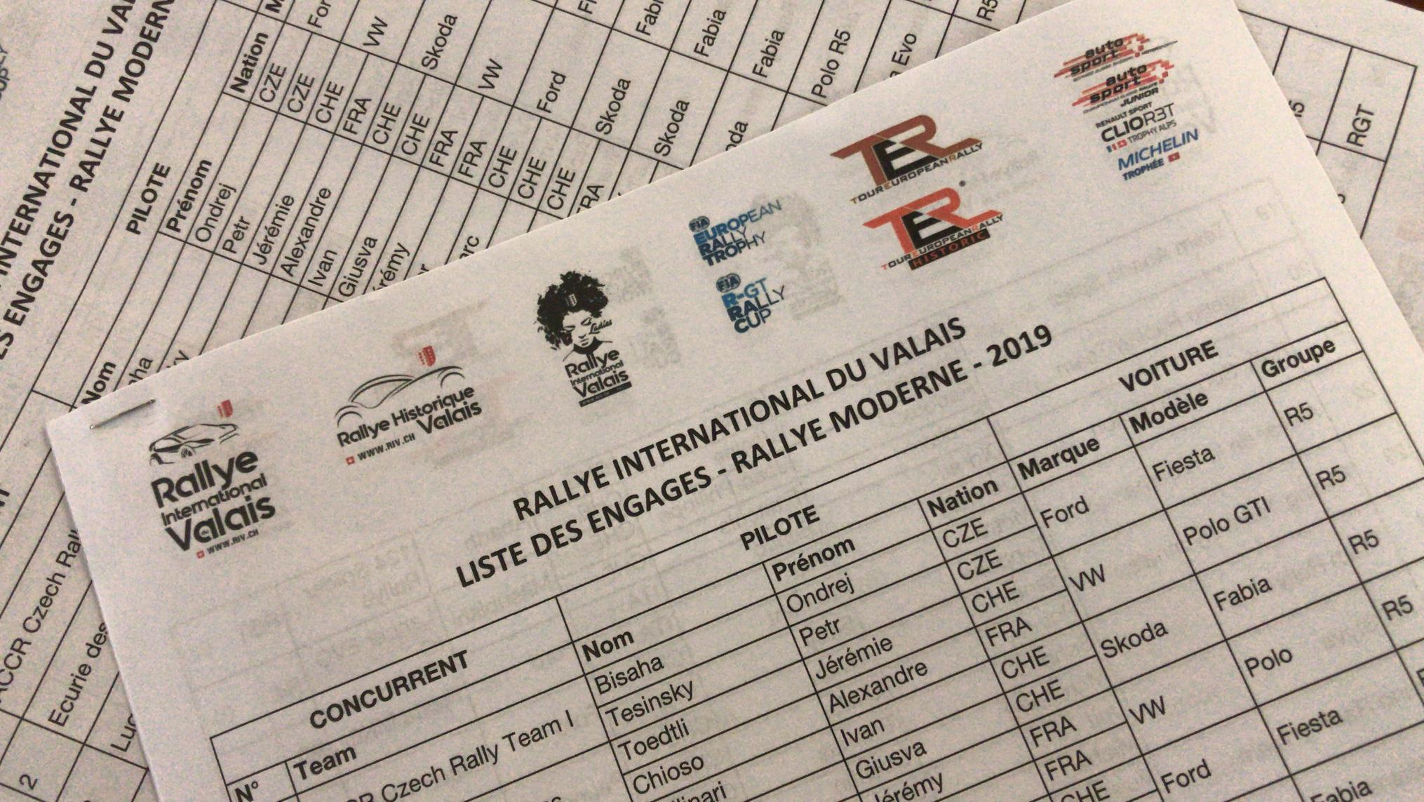 Un superbe plateau pour le 60ème Rallye International du Valais