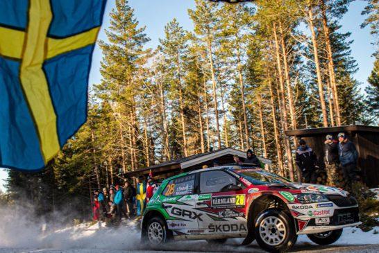 Škoda privateer Emil Lindholm leads WRC3 – Oliver Solberg with good Škoda debut