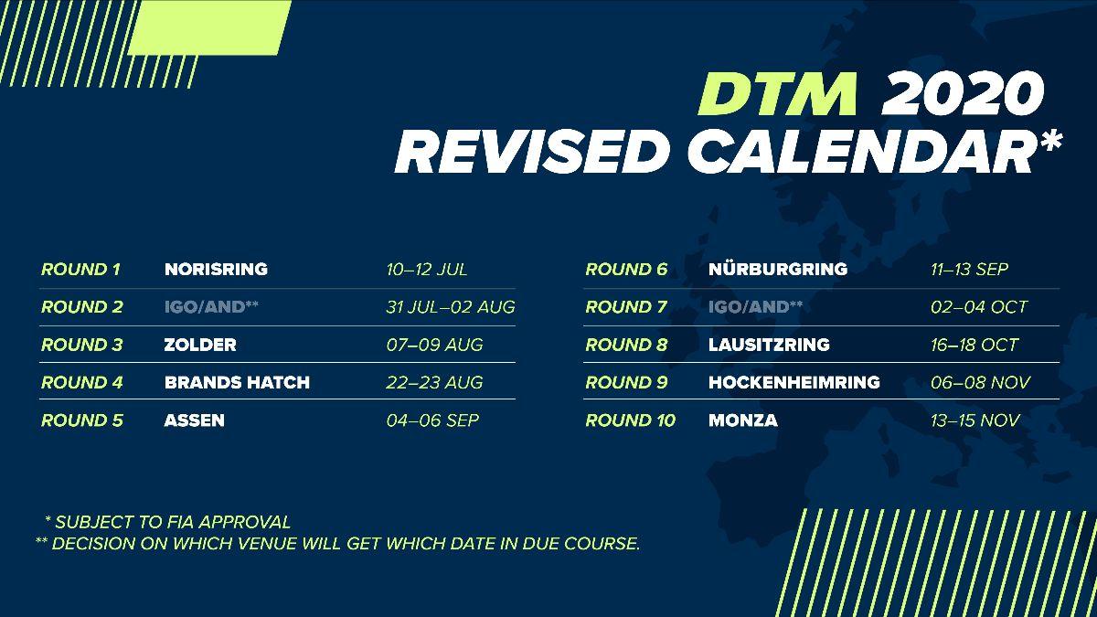 DTM – Le calendrier 2020 revu en profondeur   Sport Auto.ch