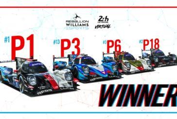 Rebellion Williams Esports remporte la première édition des 24 Heures du Mans Virtuelles