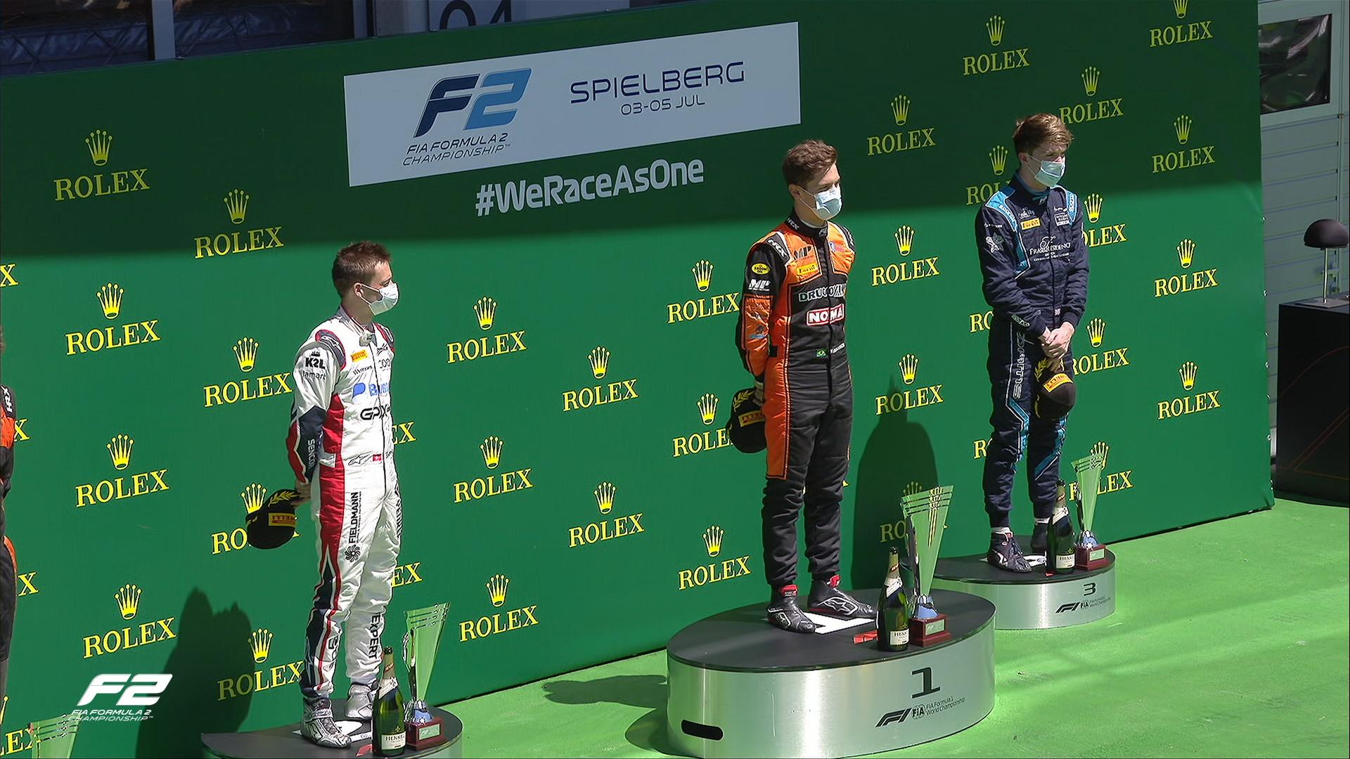 FIA F2 – GP d'Autriche: Louis Delétraz commence la saison avec un podium