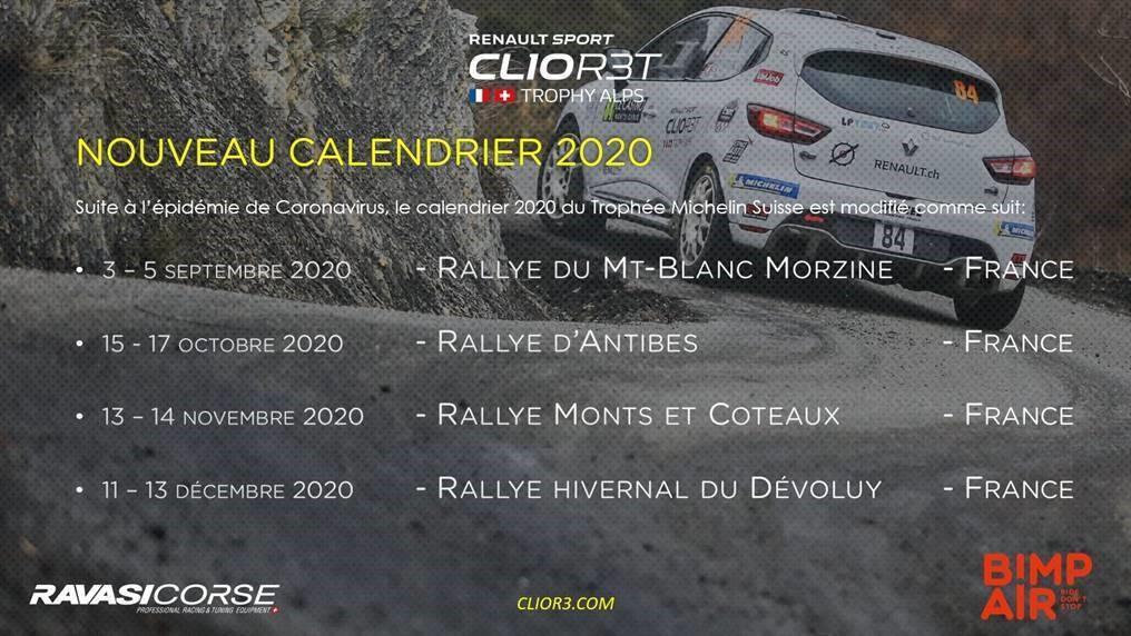 Le Rallye d'Antibes intègre le Clio R3T ALPS Trophy 2020