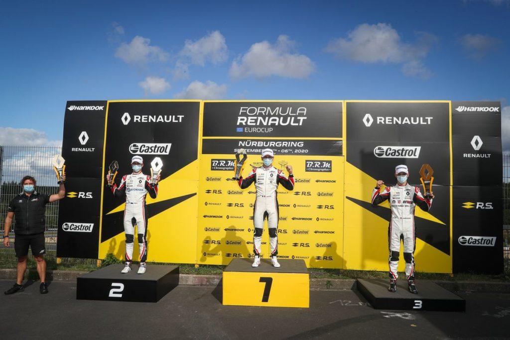 Formule Renault - Grégoire Saucy monte sur le podium au Nürburgring