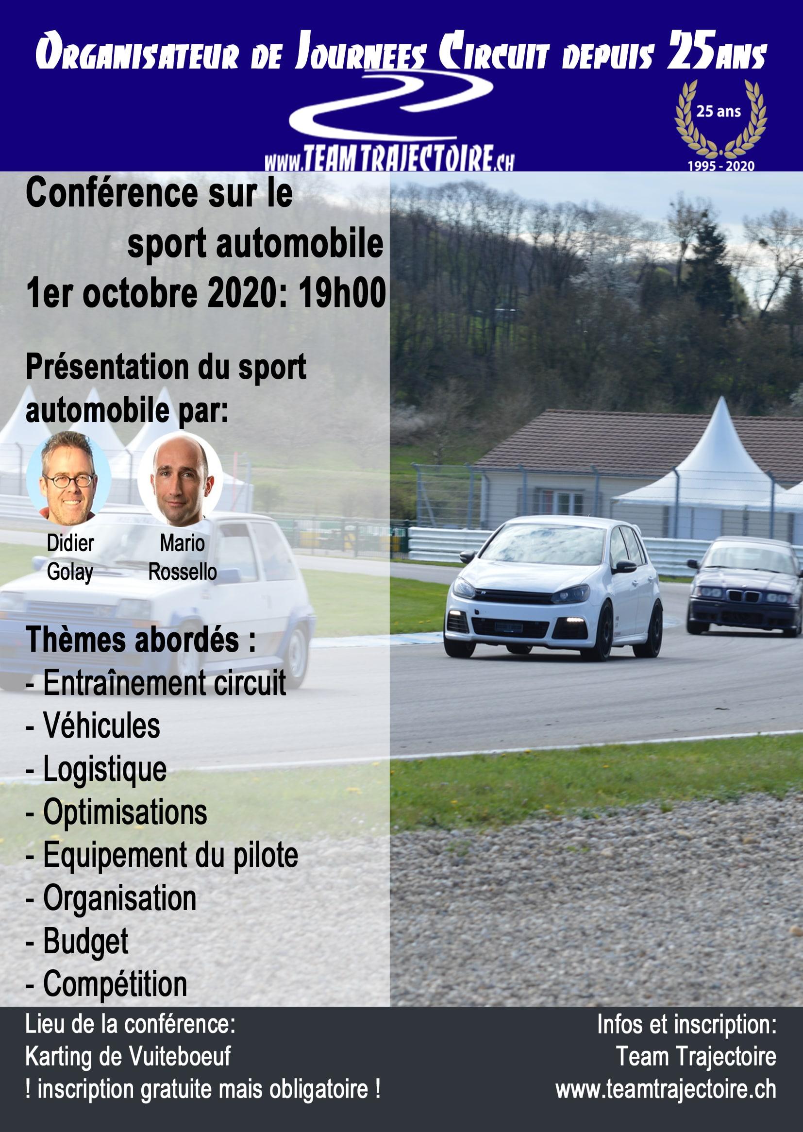 Conférence journées circuit automobile par le Team Trajectoire