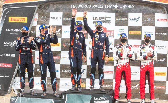 WRC – Hyundai Motorsport feiert Doppelsieg bei der Rallye Sardinien