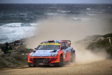 Ole Christian Veiby completed Rally Italia Sardegna second of the WRC 2