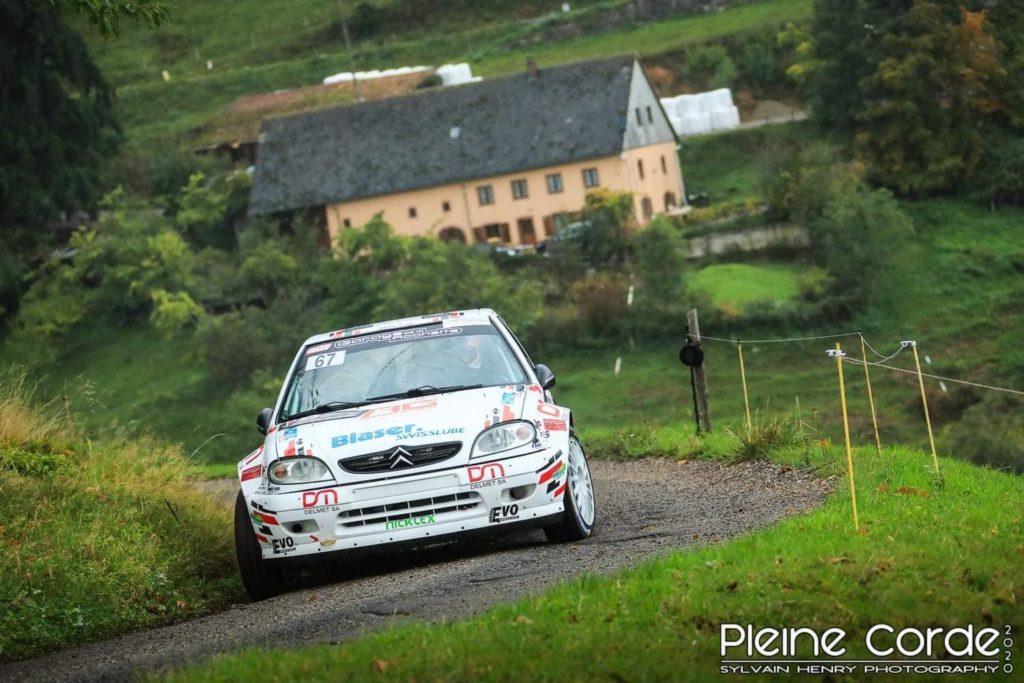 Michaël Burri cinquième et vainqueur du groupe F2000 au rallye Centre Alsace