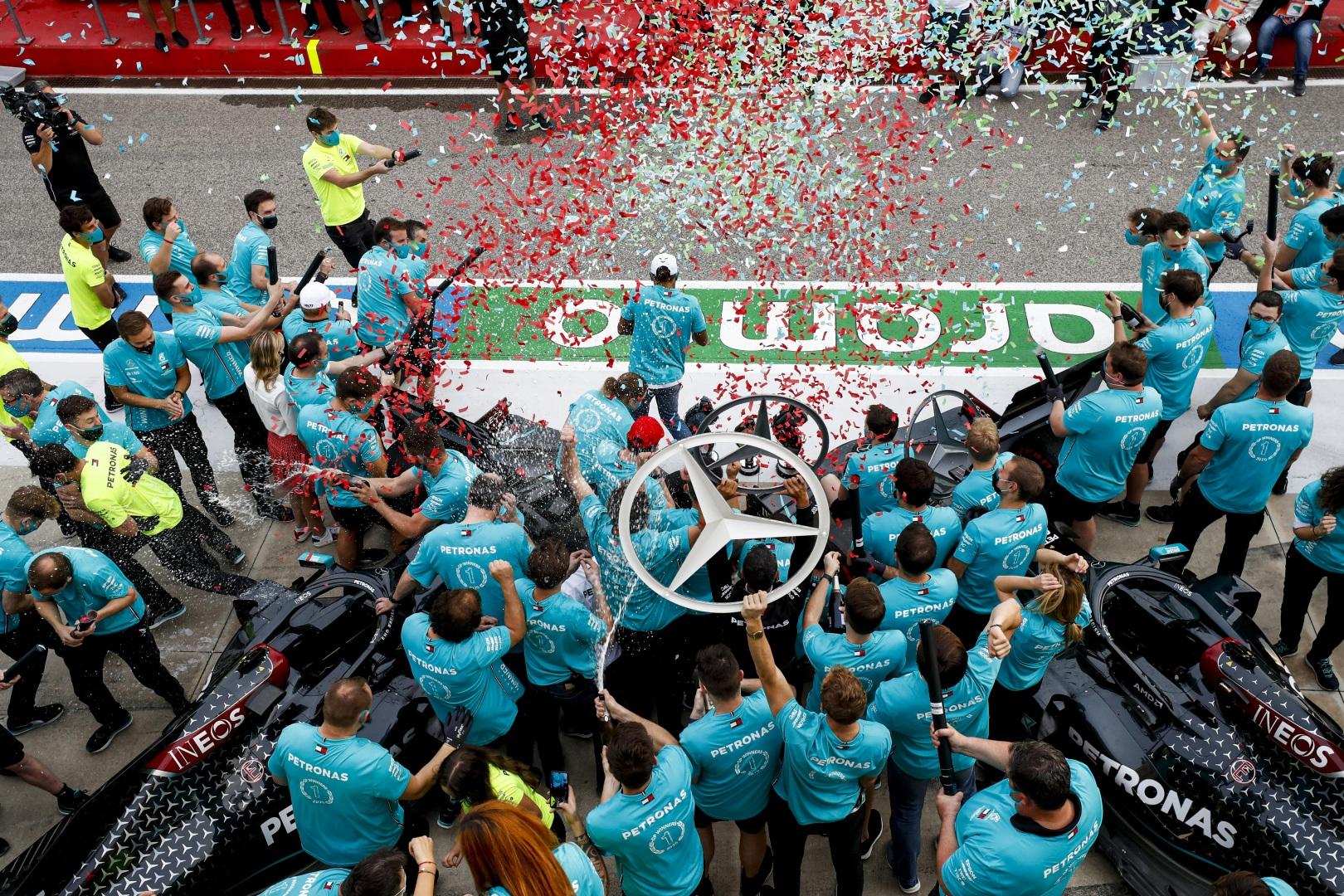 F1 – GP d'Emilie-Romagne, le debrief d'après-course: Hamilton devant Bottas, Mercedes titré. Les deux Alfa Sauber dans les points