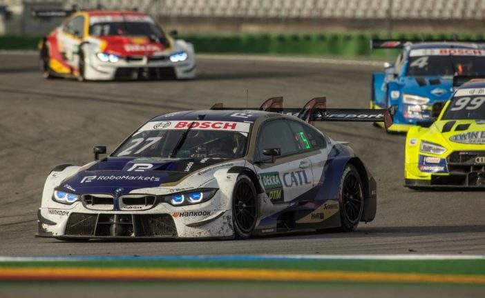 Jonathan Aberdein is the best-placed BMW driver in the first race of the final DTM weekend at the Hockenheimring