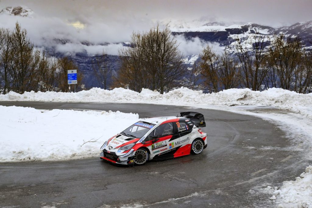 Ogier leads in the Toyota Yaris WRC, heartache for Evans