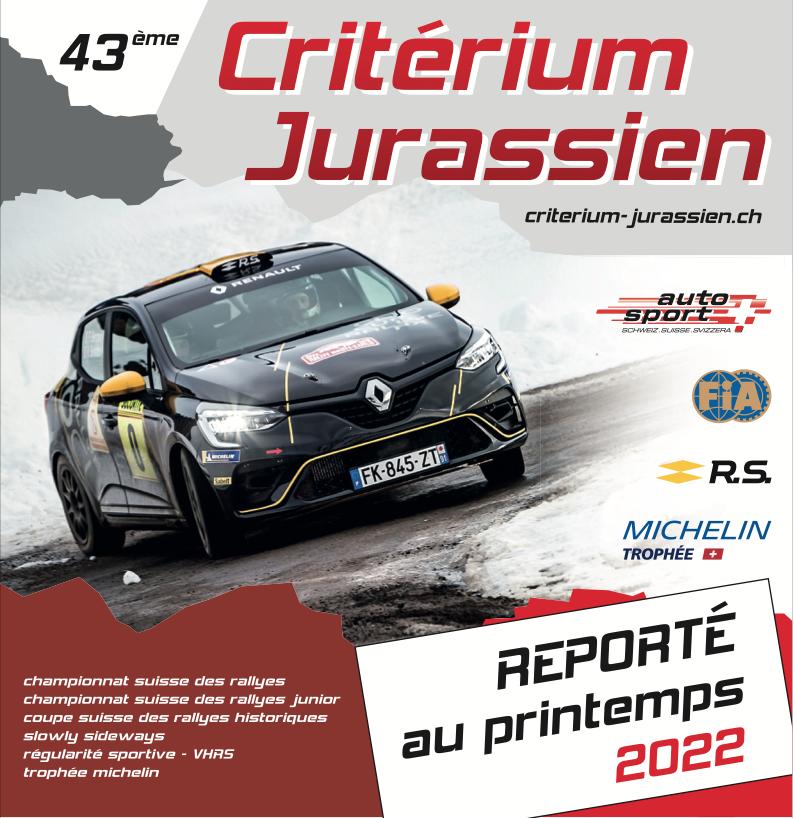 Le Criterium Jurassien 2021 annulé!