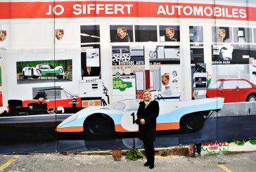 Inauguration de la fresque du garage de Jo Siffert